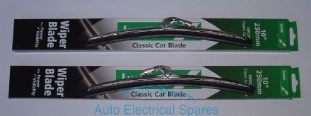 "lucas STAINLESS STEEL ( not chrome ) wiper blade 10"" PAIR 7mm x 2mm arm"